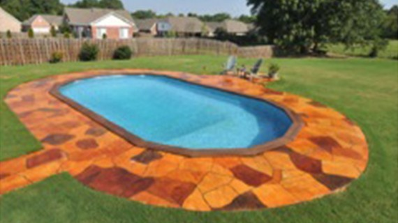 Any Doughboy Pool Can Be Recessed In The Ground Construction Complete